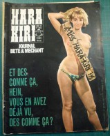 Hara Kiri N°54 Aout 1965 - Wolinski Cabu Charlie Caricature Choron -  Très Bon état - Humor