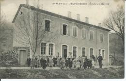 St-MARTIN-L'INFERIEUR    Ecole Et Mairie    RARE - Other Municipalities