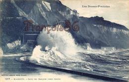 (64) Biarritz - Côte Des Basques (Gros Temps) - Trés Bon état - 2 SCANS - Biarritz