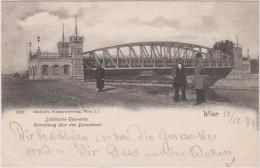AK  - Wien - GASWERKSTEG - Städt. Gaswerke. Rohrleitung über Donaukanal 1899 - Sonstige