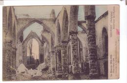 NIEUWPOORT Interieur Eglise Bombardee Guerre 14 18 Lettre Sodat Americain Letter Card Soldier Mail  AEF - Non Classés