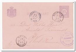 Briefkaart 1887 Stempel Doornenburg En Brummen, H.H. Pelgrim Aannemer Brummen - Brieven En Documenten