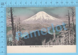 Oregon USA ( Mt St. Helens From Spirit Lake ) Post Card Carte Postale Recto/Verso - Photographie