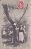 "CARD ALFABETO LETTERA ""Y""  DONNA  COLOMBI   BIMBA CANE    -FP-V-2-0882-22704 - Nomi"