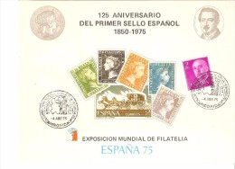 Hoja Commemorativa  Usada. 1975 - Fiscales