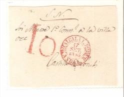 Frontal De Carta  1845 Y Matasello 10 - Espagne