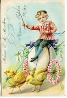 GOFRADA GAUFREE 3D CHILD POUSSINS D´ÉQUITATION ENFANT RARISSIME CABALGATA DE POLLITOS RIDE CHICKS! VOYAGÉE 1909 GECKO - Stripverhalen