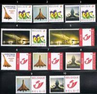 """RARE - Belgique - Série De 10 Timbres Avec Vignettes """"Concorde"""" - Emission 2001/2002 - Concorde"""
