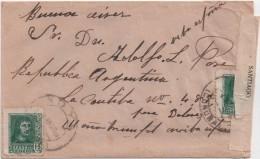 España 1938. Carta De Noya A Buenos Aires. Censura. - Marcas De Censura Nacional