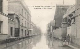 CPA Rouen - La Crue De La Seine - Ile Lacroix - La Rue Centrale - Rouen