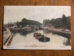 PONT-L'EVEQUE (60) - Le Canal (péniche) - Francia