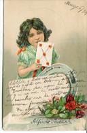 GOFRADA GAUFREE 3D NIÑA CHILD FILLE COMIC BAMBINA COLOR FLOWERS FLORES CIRCULEE 1908 RARISSIME PAS ÉMIS GECKO - Stripverhalen