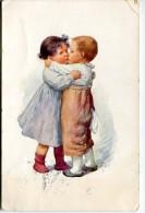 EROTIC INNOCENT KISS PAREJA COUPLE CHILDREN BESO RARISSIME EDIT.B.K.W.I CIRCULEE 1909 TIMBRE ARRACHES GECKO - Stripverhalen