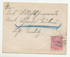 1916 Usti Nad Labem Aussig AUSTRIA (czech)  COVER 10h Stamps Czechoslovakia - 1850-1918 Empire
