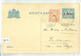 HANDGESCHREVEN BRIEFKAART Uit 1918 Van BELGIE Naar DE WOUDE Via DE RIJP * MENGFRANKERING (9512) - Lettres & Documents