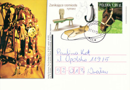 Poland Pologne, Crafts, Professions: Saddler, Bourrelier, Horse Harness, Cheval Attelage. 2012 - Métiers