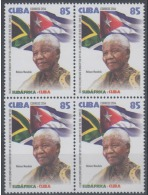 O) 2014 CARIBE, PRESIDENT NELSON MANDELA, 20TH ANNIVERSARY OF LIBERTY AND DIPLOMATIC RELATIONS WITH SOUTH AFRICA, BLOCK - Cuba