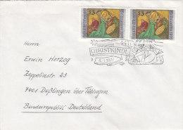ÖSTERREICH 2x 1535 Auf Auslandsbrief Mit SoSt: Christkindl (3) 6.1.1977 - Machine Stamps (ATM)