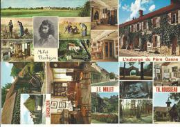 4 CPM - BARBIZON (77) La Maison De MILLET - Façades Sur La Rue Du Village Et Sur Le Jardin -la Salle à Manger, Multivues - Barbizon