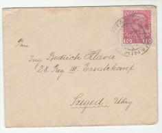 1915 Branik AUSTRIA (czech)  COVER 10h Stamps Czechoslovakia - 1850-1918 Empire