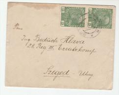 C1915 Branik AUSTRIA Czech COVER 2x 5h Stamps Czechoslovakia - 1850-1918 Empire