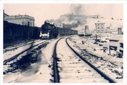 """02888  """"STAZIONE DI VILLAROSA SULLA LINEA PALERMO CATANIA """". FOTOGRAFIA ORIGINALE - Trains"""