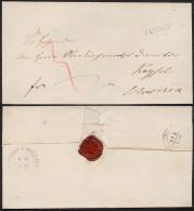 Ca. 1850 Sauberer Brief Mit L2 TESSIN > Schwerin Rückseitig Bahnpost-K2 HAGENOW-ROSTOCK - Mecklenburg-Schwerin
