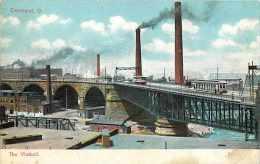 235111-Ohio, Cleveland, Viaduct, Factory Smoke Stacks, UNICO No 687