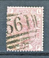 UK 1875-80 Victoria Effige In Ottagono N 56- 2,5 P.rosa Violaceo FL  Tav 13 Usato - Used Stamps