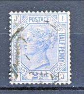 UK 1875-80 Victoria N. 57- 2,5 Penny Azzurro JI Tavola 18 Usato - Used Stamps
