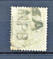 UK 1875-80 Victoria N. 59 - 4 Penny Verde Salvia CG Tavola 16 Usato - Used Stamps