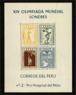 Peru Scott #C81a, 1948, Hinged - Pérou