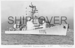 Escorteur Rapide L´ALSACIEN (Marine Nationale) - Carte Photo éd. Marius Bar - Photo/bateau/schiff - Warships