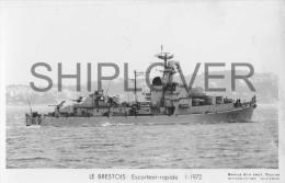Escorteur Rapide LE BRESTOIS (Marine Nationale) - Carte Photo éd. Marius Bar - Photo/bateau/schiff - Warships