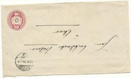 1875 10 Rp Tüblibrief Von Solthurn  Nach Chur - Ganzsachen