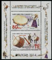 CHYPRE TURK 2014 - Instruments De Musique Nationaux, Europa 2014 - BF Neufs // Mnh - Europa-CEPT