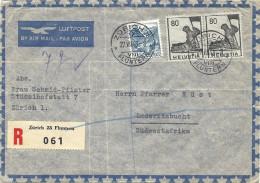 1948 Flugbrief Nach Lüderitzbucht Südwestafrika R-Brief - Altri Documenti