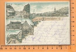HERBOLZHEIM: Gruss Litho Multi Vues, Hauptstrasse, Panorama, Vila Schindler, Rathaus, Bahnstation - Altri
