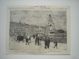 GRAVURE 1879. SUISSE..... GENEVE..... LE MONUMENT ELEVE EN L'HONNEUR DU DUC DE BRUNSWICK.... - Estampes & Gravures