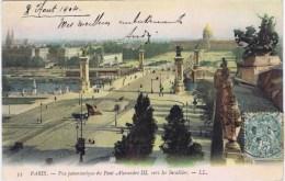 Cpa  PARIS Vue Panoramique Du Pont Alexandre III.    VERS LES INVALIDES - Bruggen