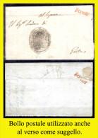 Fondi-00303 - Piego Con Testo, Da Campodimele Il 2 Agosto 1819 - - 1. ...-1850 Prefilatelia