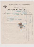 Vieux  Papier :  Manche :  Couverture   M.  LEPESANT  A  St  Sauveur La  Pommeraye-Folligny - Non Classés