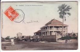 Sénégal Dakar Carte Postal Boulevard National Cachet Maritime Bordeaux Gironde - Senegal (1887-1944)