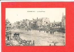 80 PERONNE Cpa Animée  GUERRE 1917  La Grand Place - Peronne