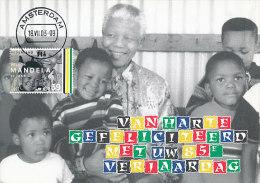 D18932 CARTE MAXIMUM CARD FD 2003 NETHERLANDS - NELSON MANDELA NOBEL PRIZE CP ORIGINAL - Nobel Prize Laureates
