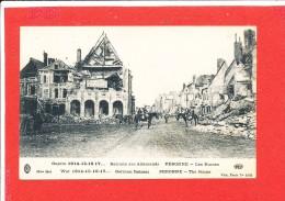 80 PERONNE Cpa Animée  GUERRE Retraite Des Allemands   1602 ELD - Peronne