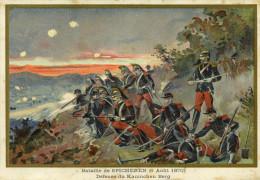 Militaria Guerre Bataille De SPICHEREN 6 Août 1870 Défense Du Kaninchen Berg Descriptif Verso Illustré - Otras Guerras