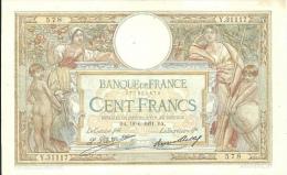 Billet 100 Francs Luc Olivier Merson - 1871-1952 Antiguos Francos Circulantes En El XX Siglo