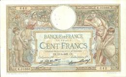 Billet 100 Francs Luc Olivier Merson - 1871-1952 Anciens Francs Circulés Au XXème