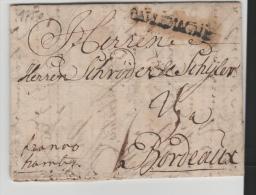 DKV003/ DÄNEMARK -  Kopenhagen 1750, Franco Hamburg Nach Bordeaux (mit Inhalt) - Danimarca